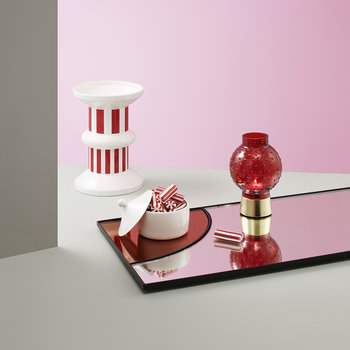 Story Tealight Holder - Lollipop Red