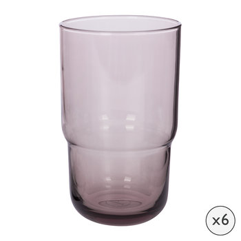 Drop Highball Glasses - Set of 6 - Amethyst