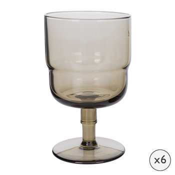 Drop Wine Glasses - Set of 6 - Cognac