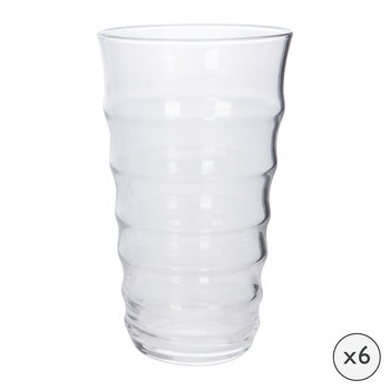 Orbit Highball Glasses - Set of 6 - Clear