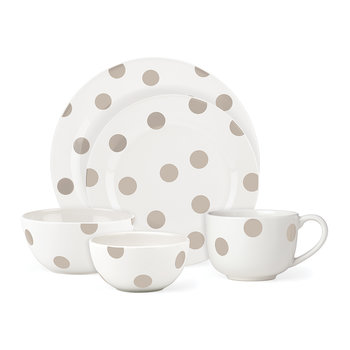 Deco Dot Soup/Cereal Bowl - Beige - Set of 4