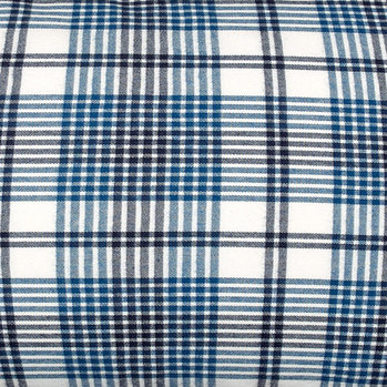Flannel Check Duvet Cover - Salty Sea