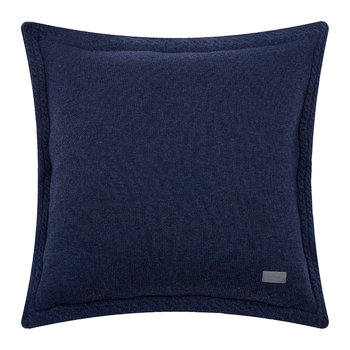 Light Cable Knit Pillow - 50x50cm - Yankee Blue