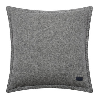 Light Cable Knit Pillow - 50x50cm - Gray
