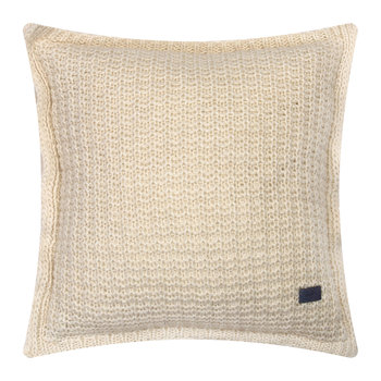 Moss Knit Cushion - 50x50cm - Eggshell