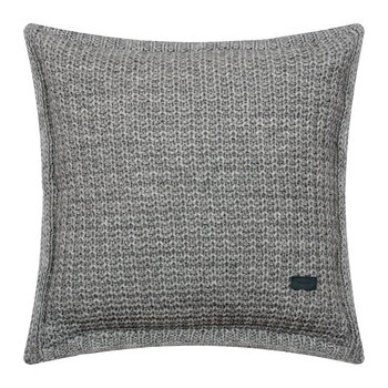 Coussin Tricoté en Point Mousse - 50x50cm - Gris