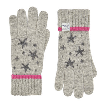 Saffy Intarsia Gloves - Gray Star