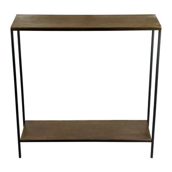 Thin Top Console Table with Base - Antique Brass