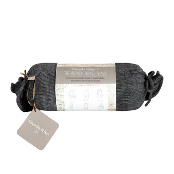 Alpaca Travel Wrap - Charcoal