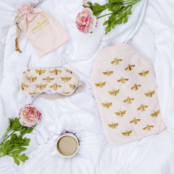 Amara X ES Velvet Bee Hot Water Bottle - Rosewater