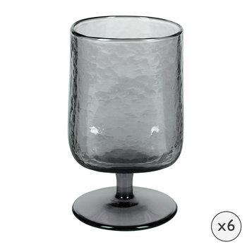 Hammered Wine Glasses - Set of 6 - Grey