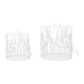 Viborg Candle Holders - Set of 2 - White