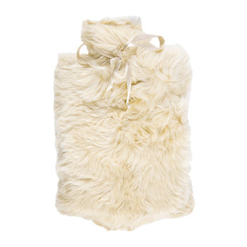 Alpaca Fur Hot Water Bottle - Champagne