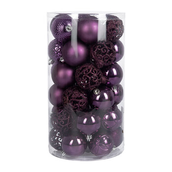 Set of 37 Assorted Baubles - Petunia Purple