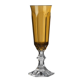 Flute Champagne Glass - Amber