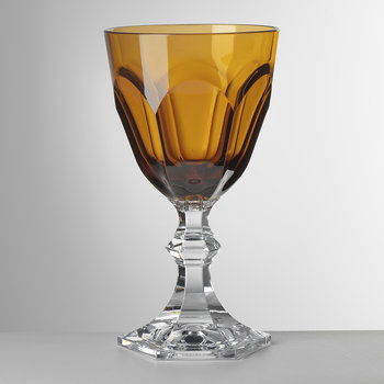 Small Dolce Vita Acrylic Wine Glass - Amber