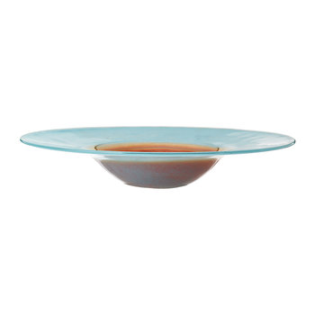 Assiette Horizon - Turquoise/Or