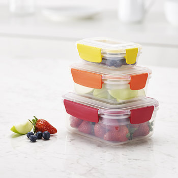 Nest Lock Compact Storage Containers - Multicolor - Set of 3