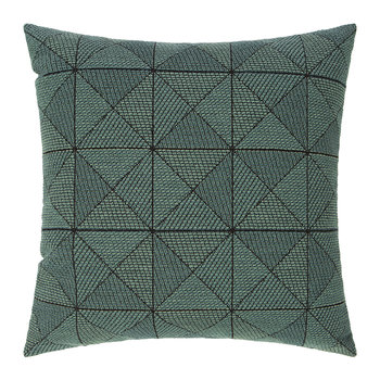 Tile Wool Cushion - 50x50cm - Green