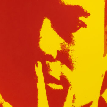 Andy Warhol Plate - Self Portrait - Red/Yellow