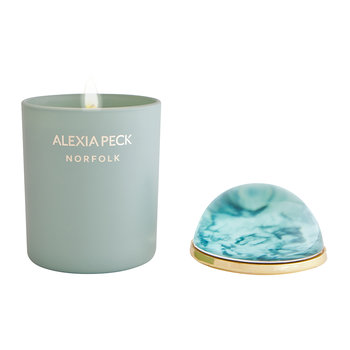 Norfolk Candle & Paperweight - Samphire & Seaweed