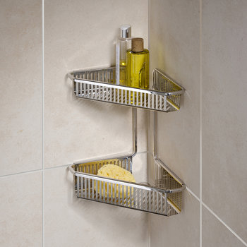 Burford Corner Shower Basket - Double