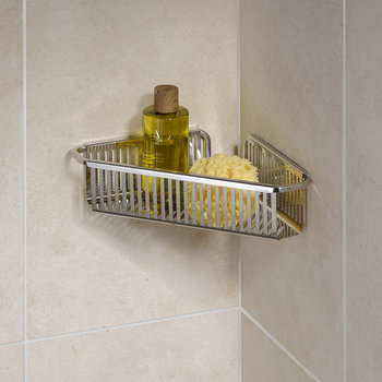Burford Corner Shower Basket - Single