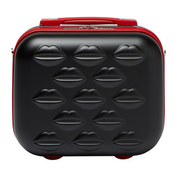 Lips Vanity Case - Black/Red