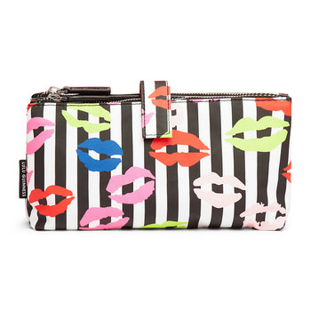 Stripe Lip Blot Double Make-Up Bag