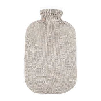Frost Knitted Hot Water Bottle - Oyster