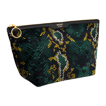 Snakeskin Velvet Cosmetic Bag