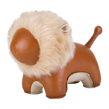 Lion Bookend - Tan & Wheat