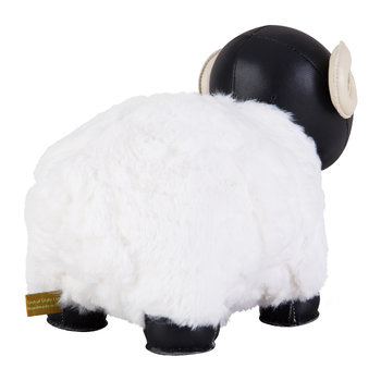 Sheep Bomy II Bookend - Black & White