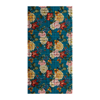 Roses Bath Towel - Blue