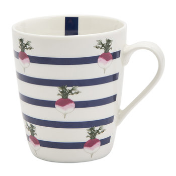 China Mug - Radish Stripe
