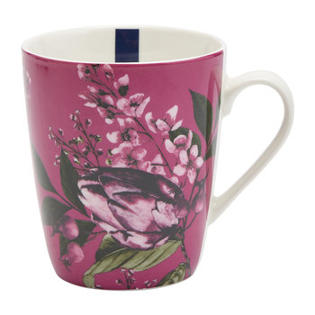 China Mug - Ruby Artichoke Floral