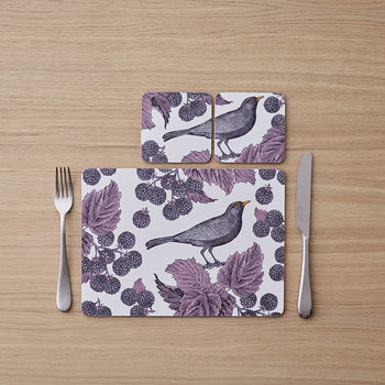 Blackbird & Bramble Coasters - Set of 4