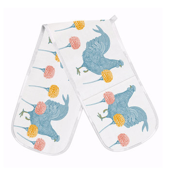 Chicken & Carnation Double Oven Glove