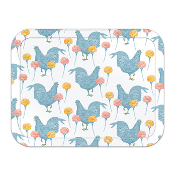 Chicken & Carnation Tray - Large