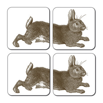 Rabbit & Cabbage Coasters - Set of 4