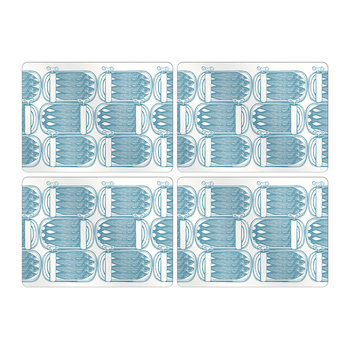 Sardine Tins Placemats - Turquoise -  Set of 4