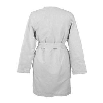Men's Oxford Bathrobe - Charcoal