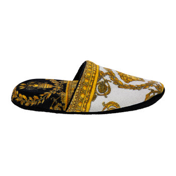 I Love Baroque Slippers - Black/White/Gold