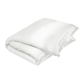 100% Silk Quilt Cover - White