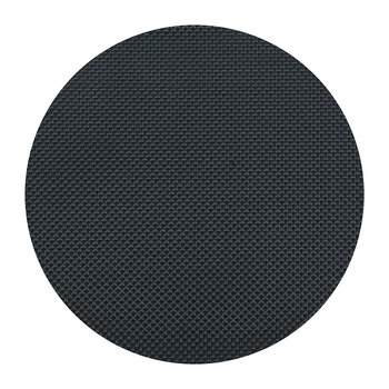 Basketweave Round Placemat - Navy