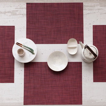 Basketweave Rectangle Placemat - Plum