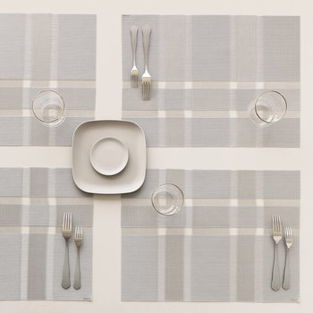 Interlace Rectangle Placemat - Silver