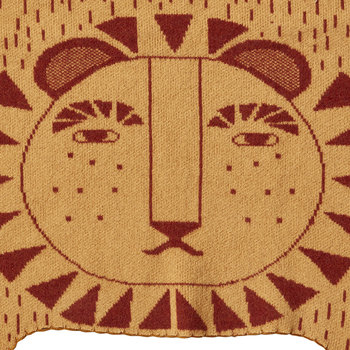 Lion Shaped Mini Blanket - Mustard