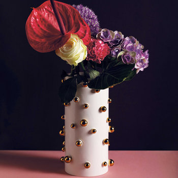 Dotted Vase - White/Gold