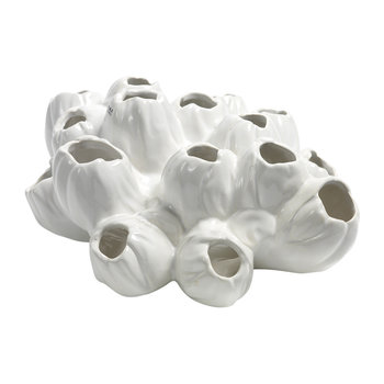 Maxiflower Coral Lying Pot - White